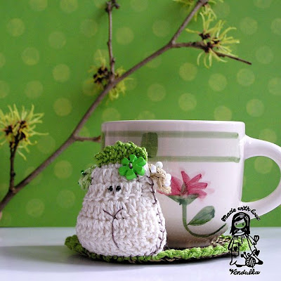 crochet DIY, crochet coaster pattern, crochet pattern, crochet sheep, crochet Vendulka, Magic with hook and needles