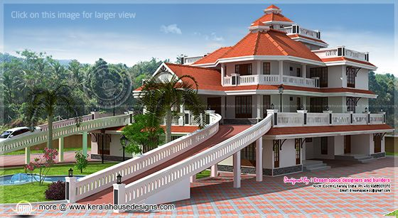 3 storey super luxury mansion in kerala house design plans for 5000 sq ft modular homes