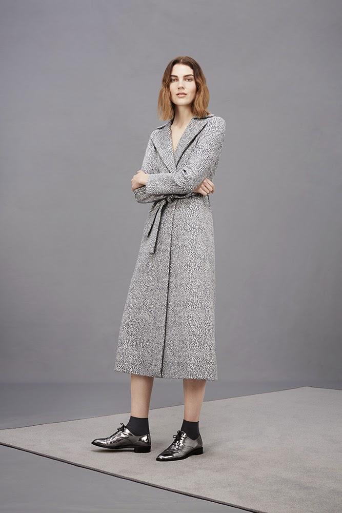 Hobbs grey long Alina Coat, Agatha Brogues