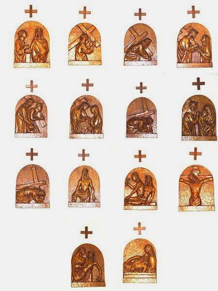 Aqui tem uma imagem da Via Crucis