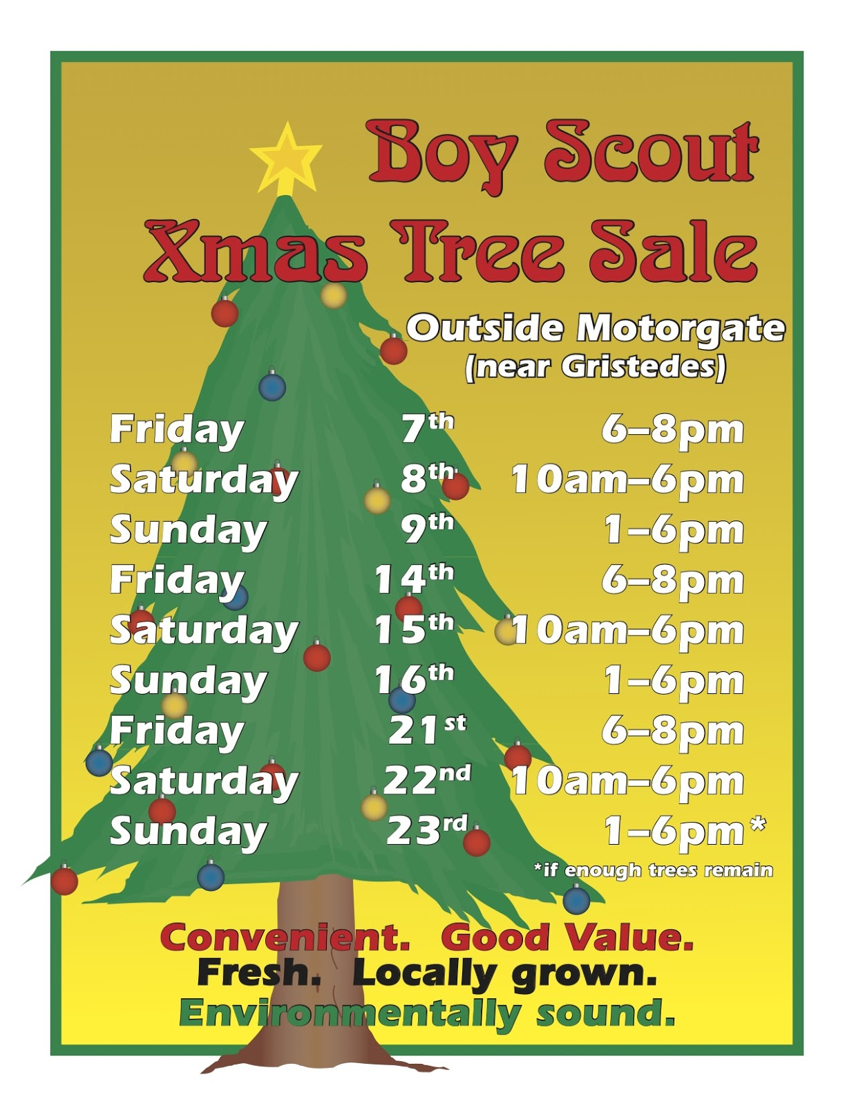 Roosevelt Island Boy Scout Christmas Trees On Sale Starting Tomorrow At  Motorgate Garage   Support Local Boy Scout Troop Or Not Because Of National  ...