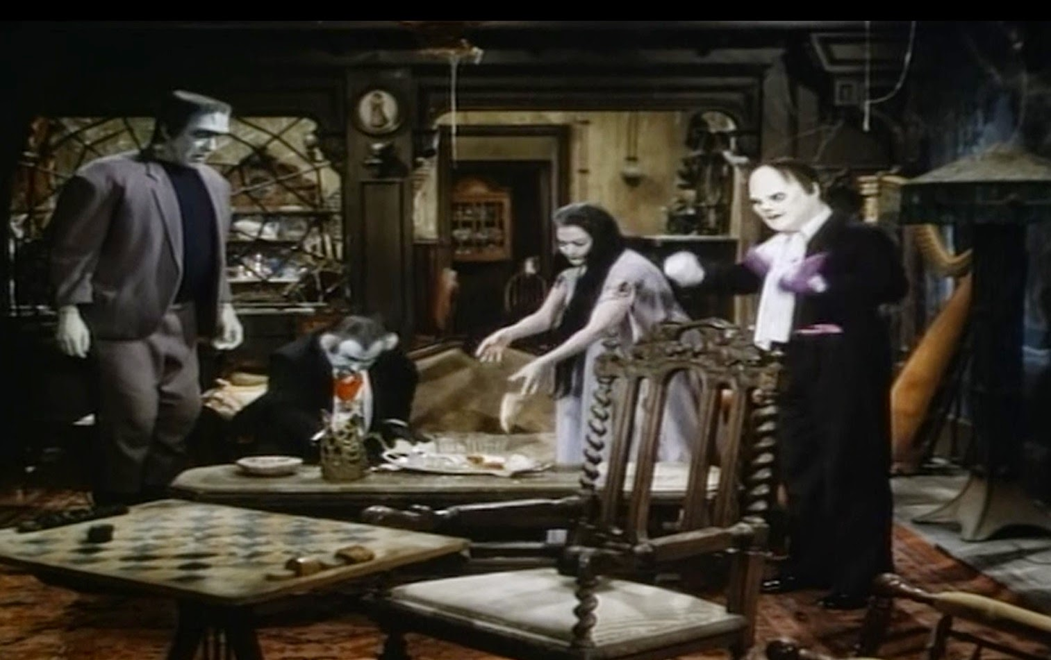 Munsters Living Room In Color