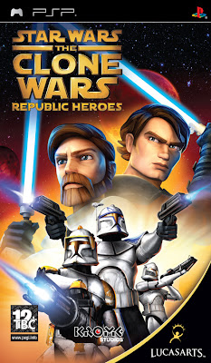 Free Download Star Wars The Clone Wars Republic Heroes PSP Game Cover