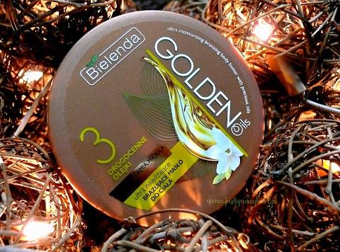 GOLDEN OILS Ultra nawilżające BRĄZUJĄCE masło do ciała do ciała z drogocennymi olejkami (makadamia, marula, kukui)