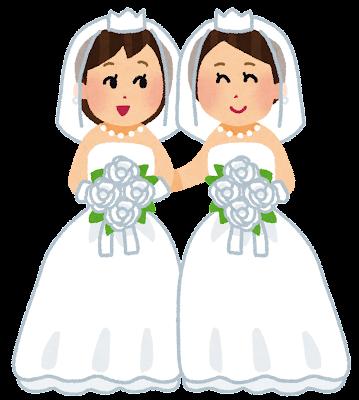 同性婚・同性結婚のイラスト(男性)