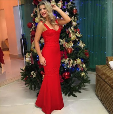 iris stefanelli vestido vermelho