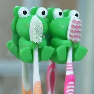 frog toothbrush suction holder