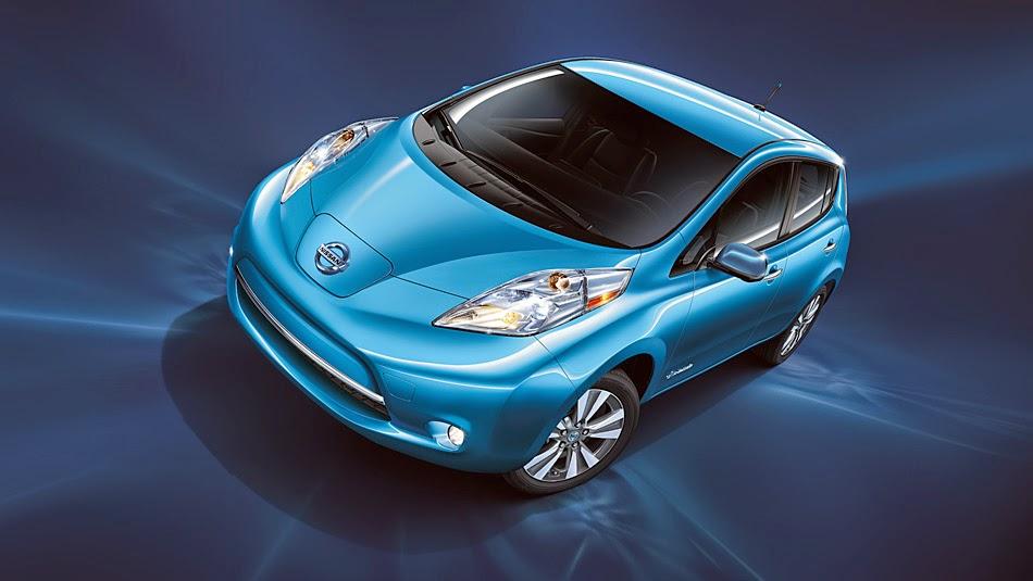 Blue Ocean Nissan Leaf