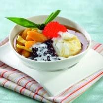 Resep Hidangan Buka Puasa Bubur Manis Kombinasi Bubur Sumsum, Ketan Hitam, dan Biji Salak