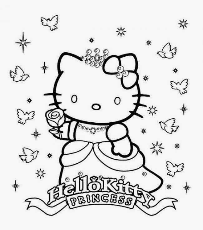 Coloriage de Hello Kitty a Imprimer Gratuit - coloriage à imprimer hello kitty