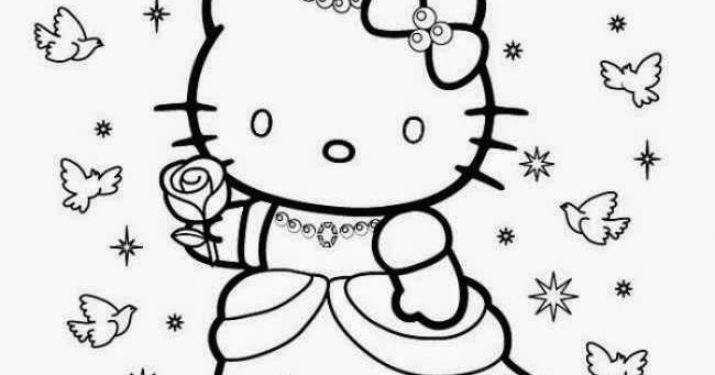 Coloriage A Imprimer Hello Kitty Princesse