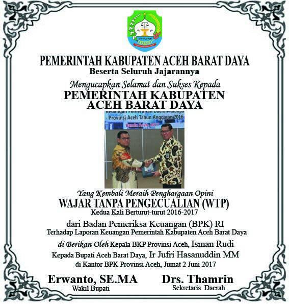 Pemerintah Kabupaten Aceh Barat Daya