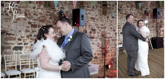 bride and groom first dance, bride in window, bridal prep, vintage wedding, high house farm brewery wedding, northumberland wedding photography katie byram photography,