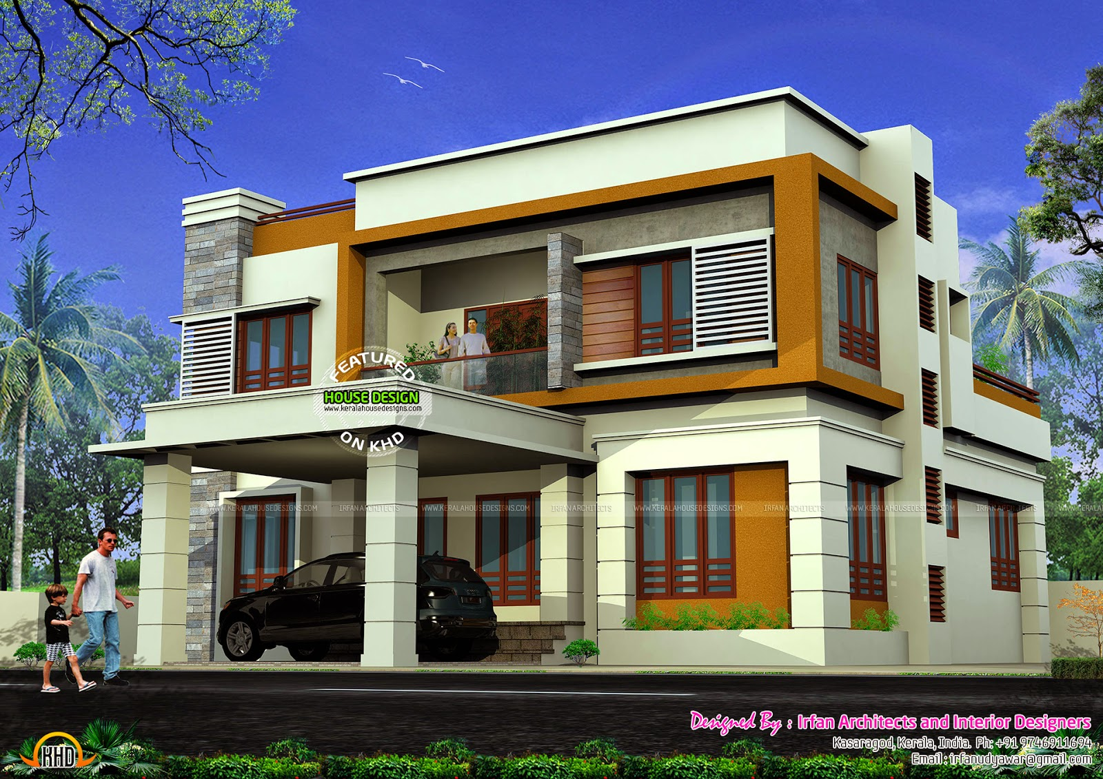 Tamilnadu Home Design. Flat Roof House.