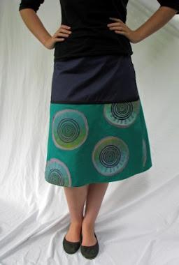 wrap skirt - flagella