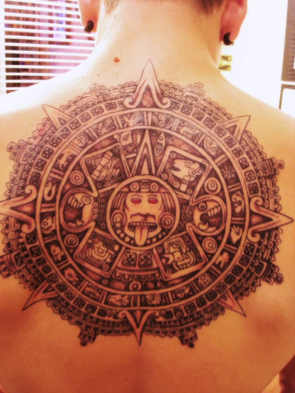 Calendario Maya Realizado Por Antonio Rodriguez En Toop Tattoo