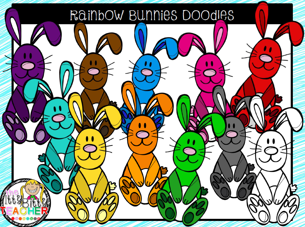 https://www.teacherspayteachers.com/Product/Clipart-Rainbow-Bunny-Doodles-1758369