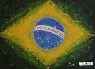pintura de la bandera de brasil
