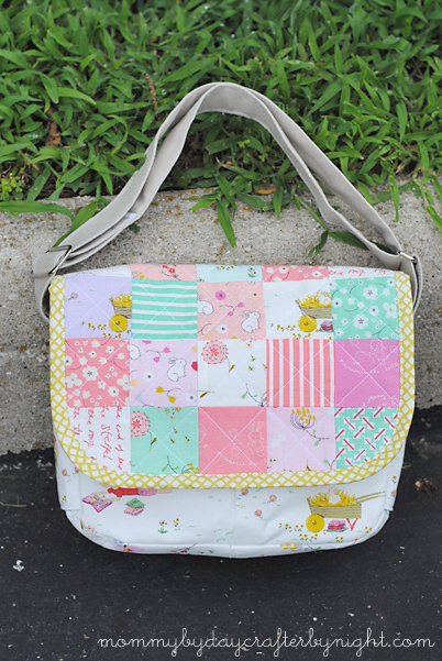 38abc94eff1 Mommy by day Crafter by night  Patchwork Messenger Bag