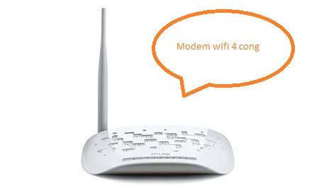 modem wifi 4 cong