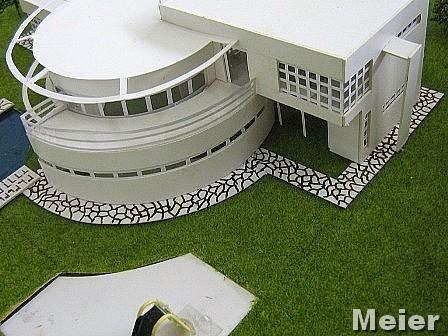 maison individuelle la mani re d 39 un architecte c l bre richard meier archipixels. Black Bedroom Furniture Sets. Home Design Ideas