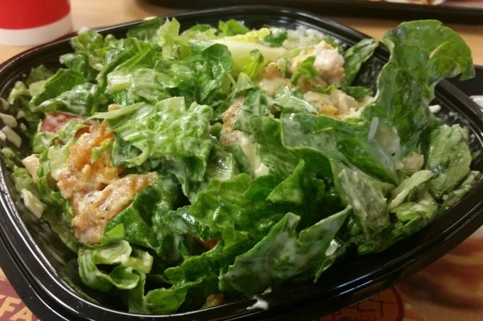 Wendy's Spicy Chicken Caesar Salad