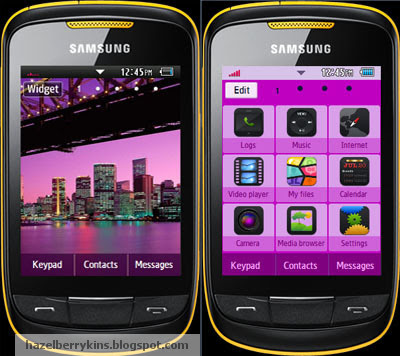 Samsung Corby 2 Theme: Citylights | Corby 2 Downloads