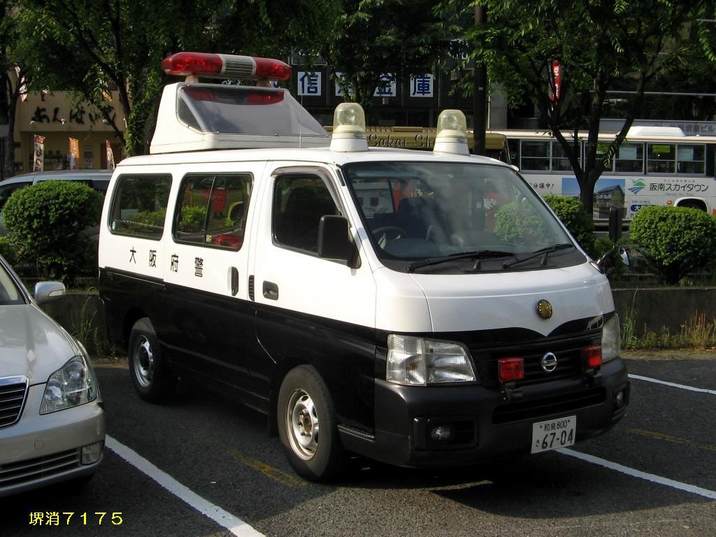 Nissan Caravan E25 police  警察 japoński policyjny samochód