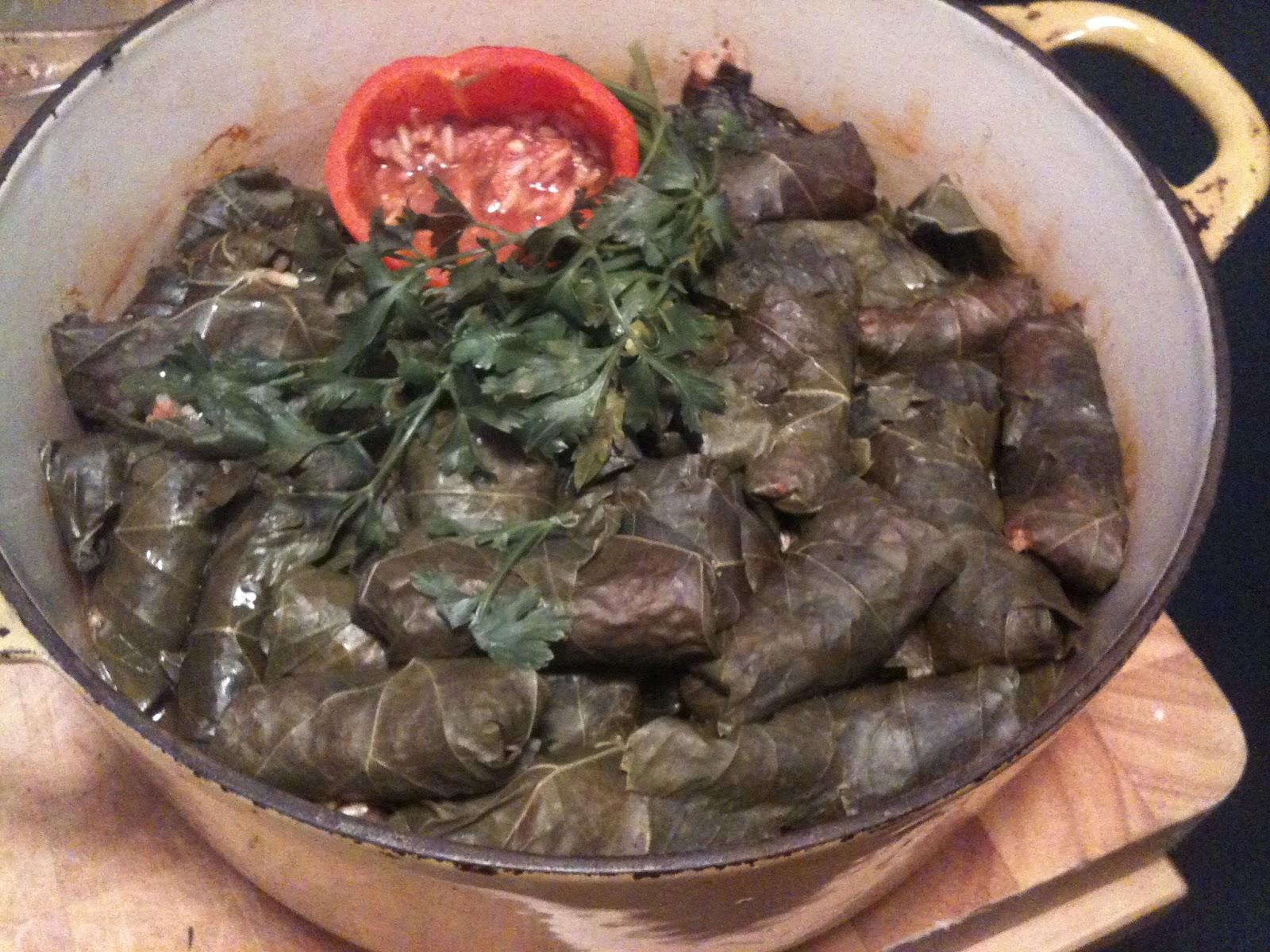 ... small-batch srirachas: ARMENIAN YALANCHI SARMA (STUFFED GRAPE LEAVES