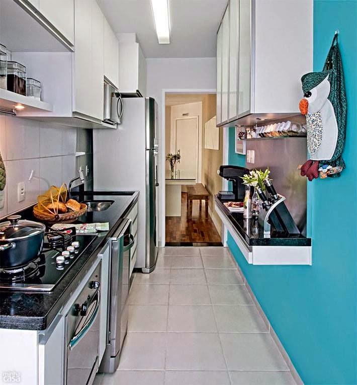Cozinha corredor e/ou pequena - ideias