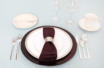 Dinner Table Setting Proper Setting : Easy south indian recipe: How to set a table ?