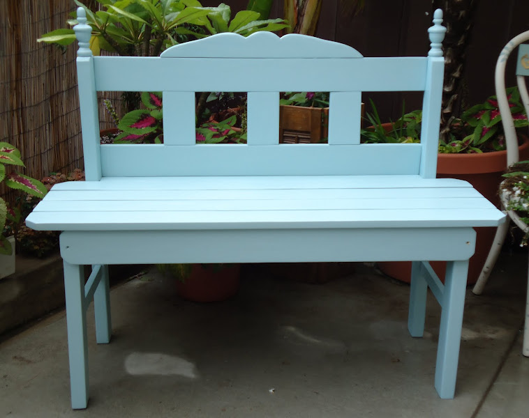 Cottage Sitting Bench - SOLD