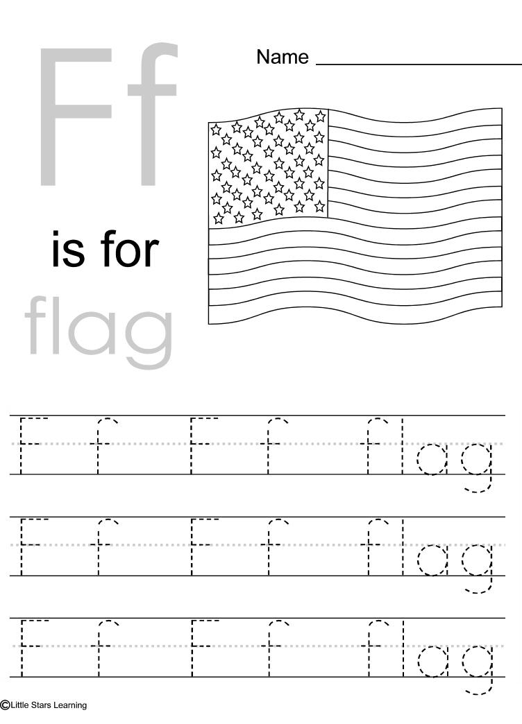 Little Stars Learning Flag Day wprintables – W Worksheets for Kindergarten