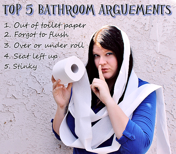 Top 5 Bathroom Arguements with #CottonelleCleanCrew #LetsTalkBums