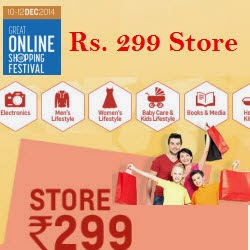 Shopclues GOSF Rs. 299 Store + 15% off + 2% Cashback