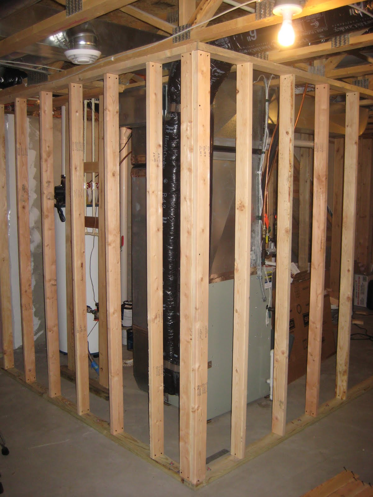 katie 39 s blog basement part 2 framing wiring and walls