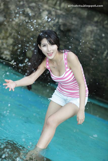 8 Cha Sun Hwa-White and Pink-very cute asian girl-girlcute4u.blogspot.com
