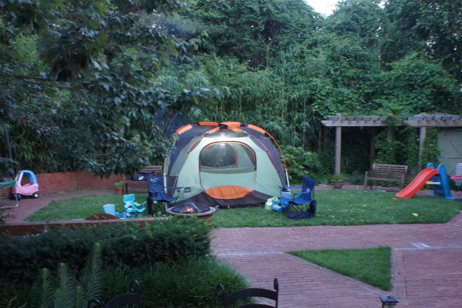 Camping In The Backyard Highlights : Backyard Camping, Again