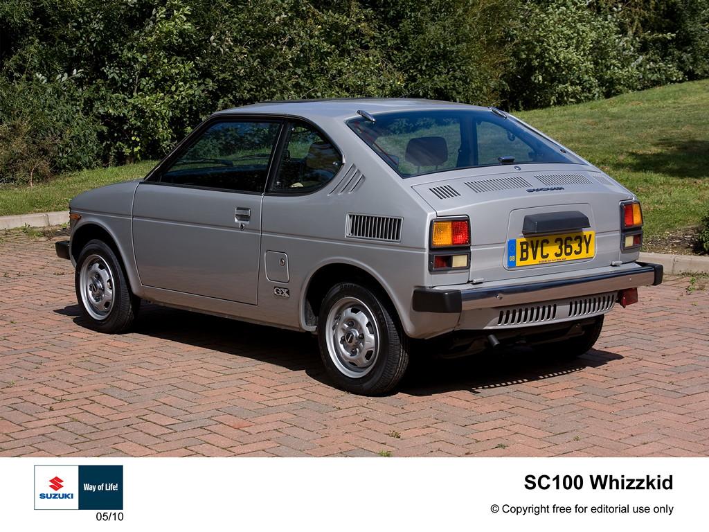 suzuki sc100, whizzkid, klasyczne małe auta, niewielkie samochody z napędem na tył, zdjęcia, informacje