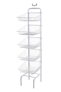 tiered wire shelving