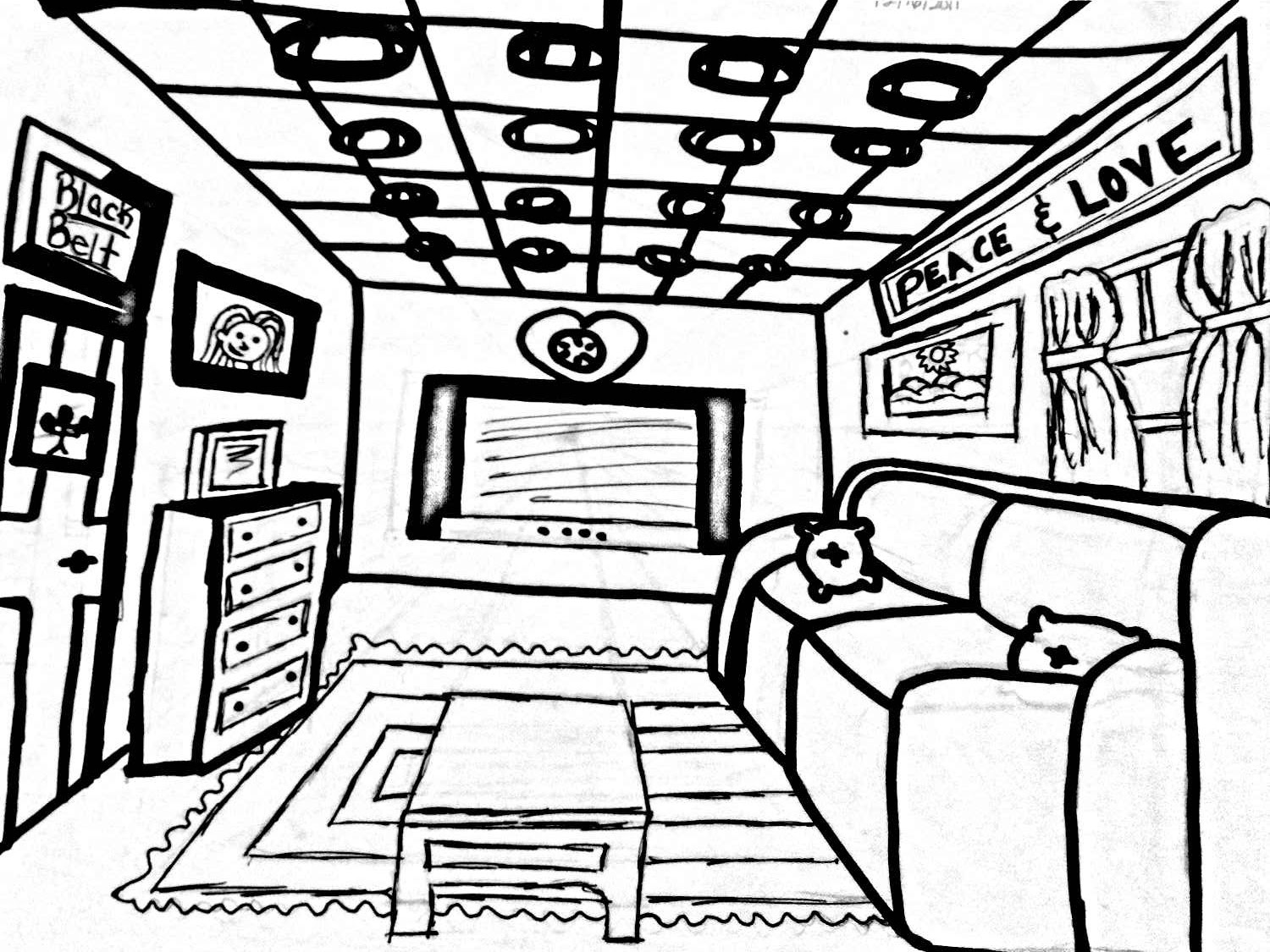The Helpful Art Teacher Draw a one point perspective city and a room – Point of View Worksheets Middle School