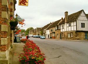 Lacock village wiltshire england