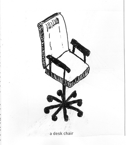 Ana S Strictly Sketchbook 642 Things To Draw 5 A Desk Chair