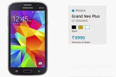 SamsungGrand Neo Plus: 5 inch,1.2 GHz Quad Core Android Phone Specs, Price