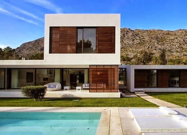 taman model rumah minimalis