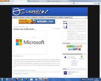 Mozilla Firefox 16.0 beta 1 no Windows 7