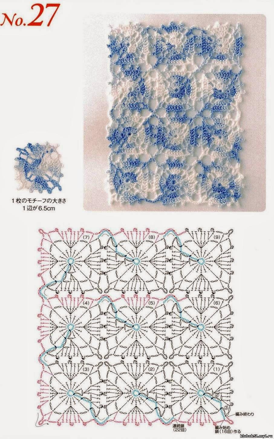 Схемы безотрывного кружева