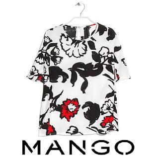 MANGO Floral Print Blouse  Mango dress