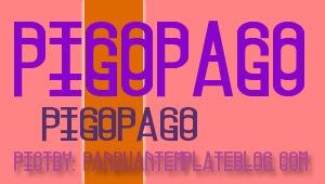 Font Gratis Untuk Design - Pigopago