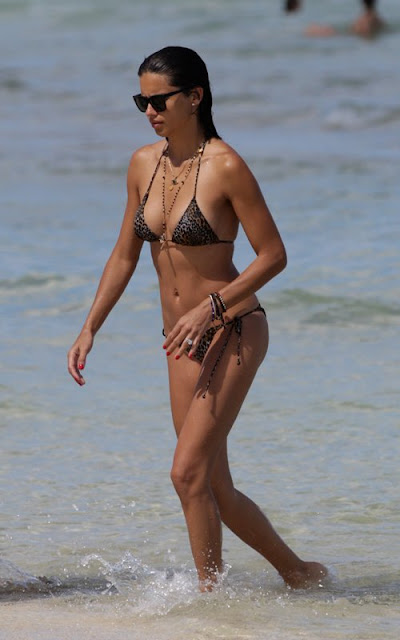 Bikini Mama Adriana Lima's Miami Beach Family Playdate